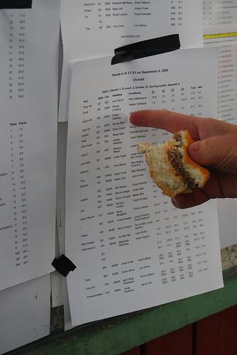 Hamburgare först, resultat sen, foto Johan Wallinder
