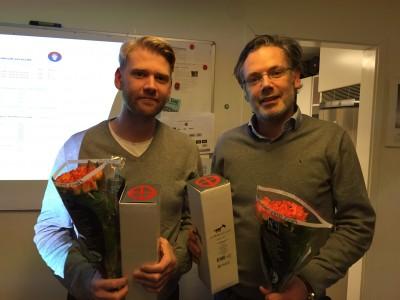Årets dominanter på banan, Joakim Rodebäck och Thomas Lundberg, premierades för segern i S606-cup, S606-regatta/NoM, plus jubileumsregattan S606 Decennial.