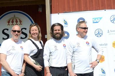 Succégänget, Gunnar Alaeus, Lotta Dahl Boethius, Johan Wallinder och Peter Pohl. På fredagen var Lotta ersatt av Richard Larsson.